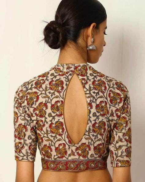 Kalamkari Print Cotton Blouse (With images) | Kalamkari blouse .