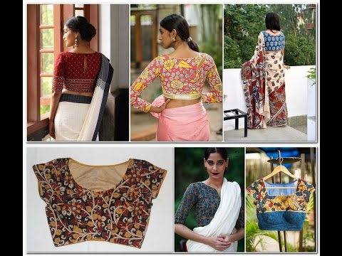 Latest Kalamkari Blouse Designs Top 25 Kalamkari Models - YouTu