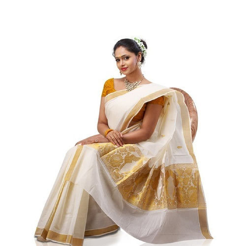 Party Wear Kerala Cotton Sarees, 6.3m, With Blouse, Rs 475 /piece .