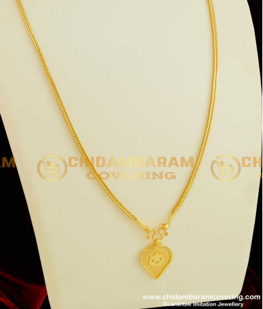 Buy Gold Plated Ela Nila Pirai or Crescent Moon Thali Pendant with .