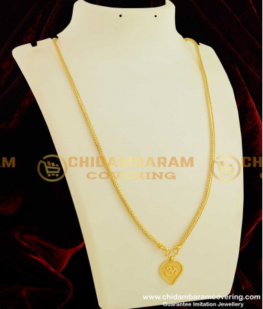 Buy Gold Plated Om Floral Thali Pendant with Chain | Traditional .
