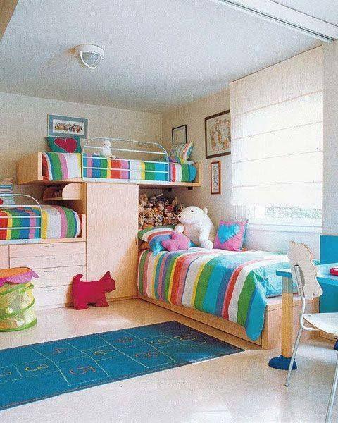 bunk bed design for 3 kids | Bunk bed desig