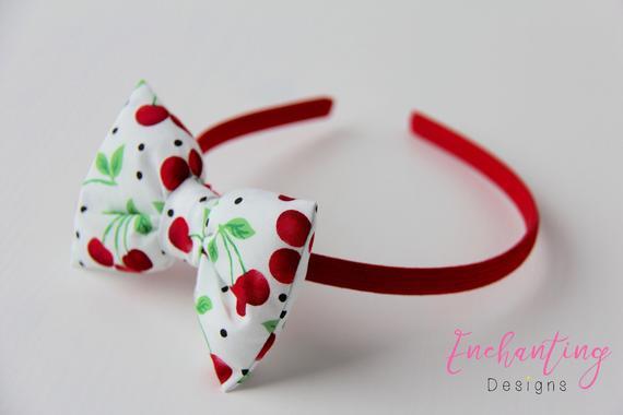 Cherry Headband Girl's Bow Headbands Kids Bow Headbands | Et