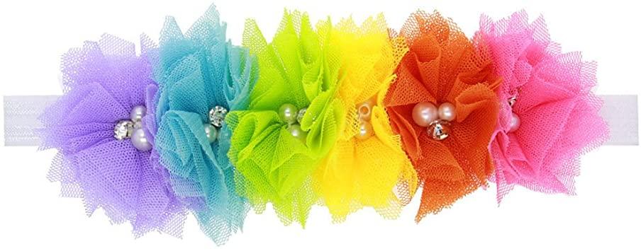 Amazon.com: Qinlee Kids Clourflu Flower Headbands, Fun Headband .