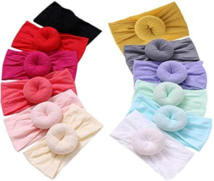 Amazon.com: Qandsweet Baby Headbands Circle Bows Knotted Soft Silk .