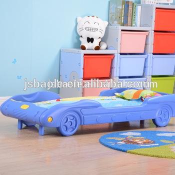 Cartoon Design Plastic Beds Car Bed For Children Kids - Buy Kids .