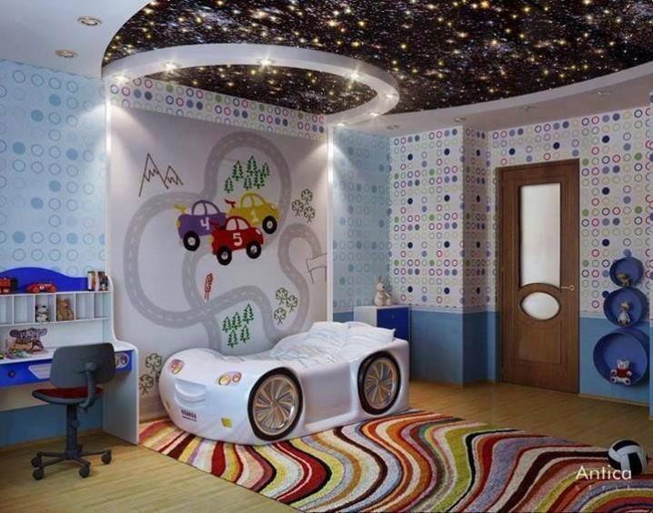 Eye-Catching Kids Bedroom Ceiling Desig