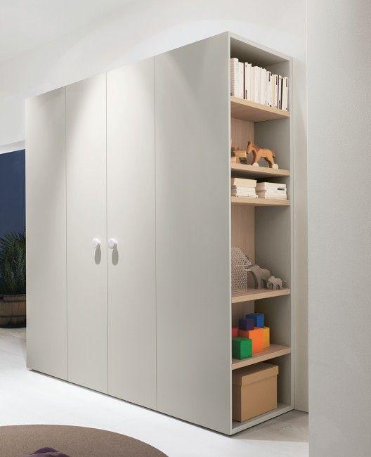 Wardrobe with shelves | Bedroom cupboard designs, Wardrobe door .