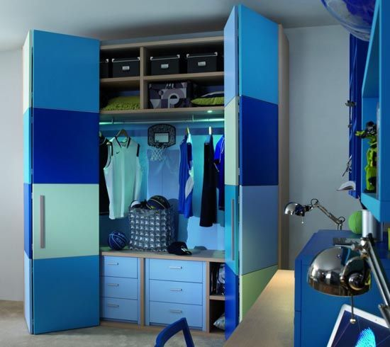 Great Blue Childrens Bedroom Wardrobe Collection from Dearkids .