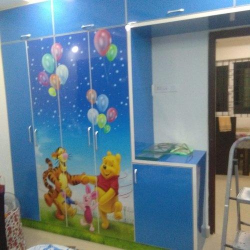 Kids Room Wooden Designer Wardrobe, Rs 17000 /unit JP Interiors .