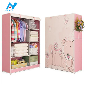Baby Cartoon Kids Plastic And Iron Wardrobe - Buy Baby Wardrobe .