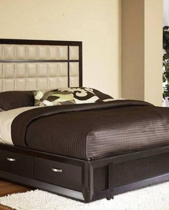 Queen Bed Frame Storage Bookshelves Shower – Saltandblu