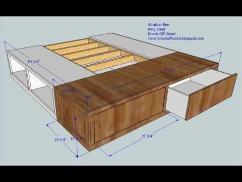King Size Bed with Storage and Mattress Design - YouTu