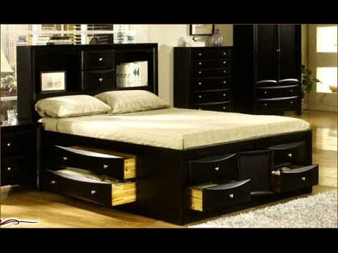 King Size Bed Frame With Drawers Ideas - YouTu