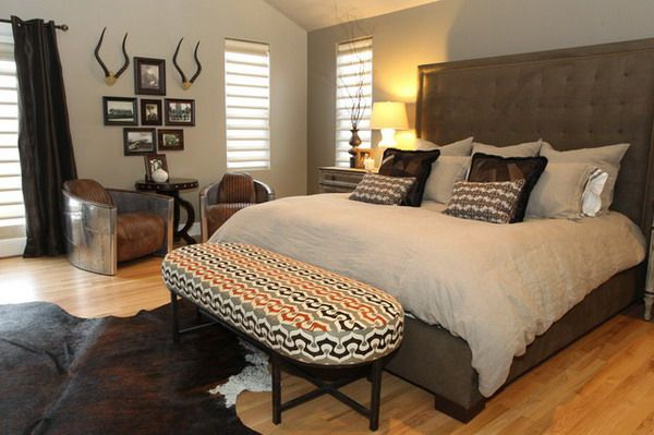 Mens Bedroom Ideas with Large King Size Bed (With images) | Mens .