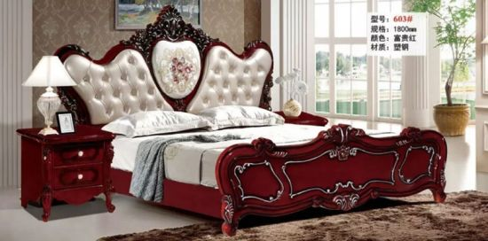 China Comfortable Modern Bedroom Furniture Wooden King Size Bed .