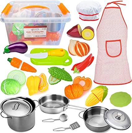 Amazon.com: FUNERICA Toddler Play Kitchen Accessories Set .