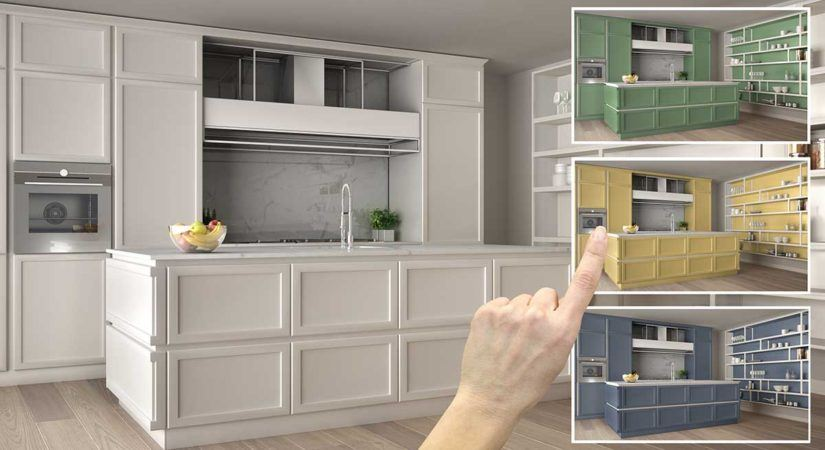 4 Ideas For Painted Kitchen Cabinets | Timmins Painti