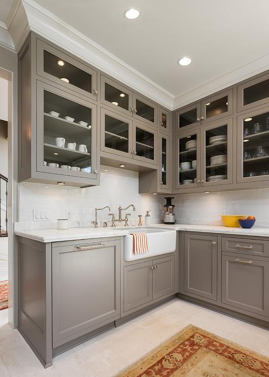 Most Popular Cabinet Paint Colors | Grey painted kitchen, Kitchen .