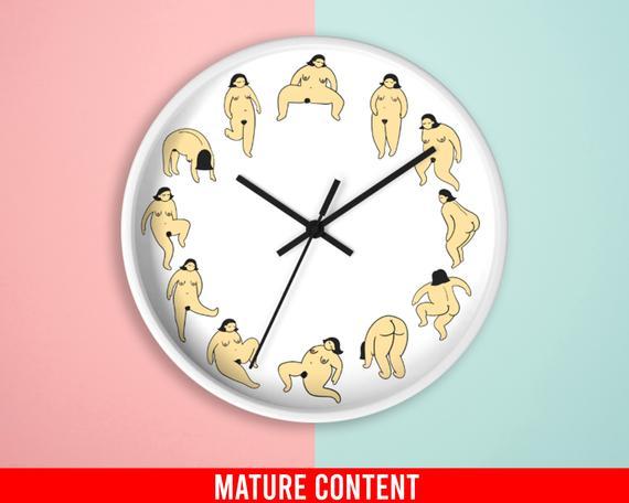 Funny Wall Clocks Vagina Kitchen Clocks For Wall Bedroom | Et