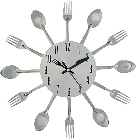 Amazon.com: Kole OB951 Clock Kitchen Cutlery Wall Clock: Home .
