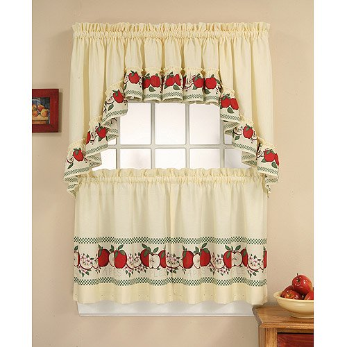 CHF & You Red Delicious Kitchen Curtains, Set of 2 - Walmart.com .