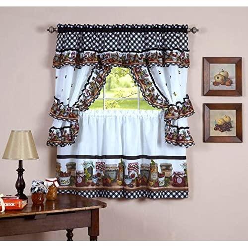Kitchen Curtains Set: Amazon.c
