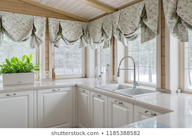 Kitchen Curtains Images, Stock Photos & Vectors | Shuttersto