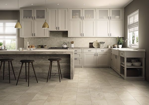 off white kitchen floor tile - Google Search | Modern kitchen .
