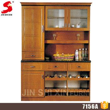 Accept Oem Kitchen Storage Cabinet Wooden Cupboard With Showcase .