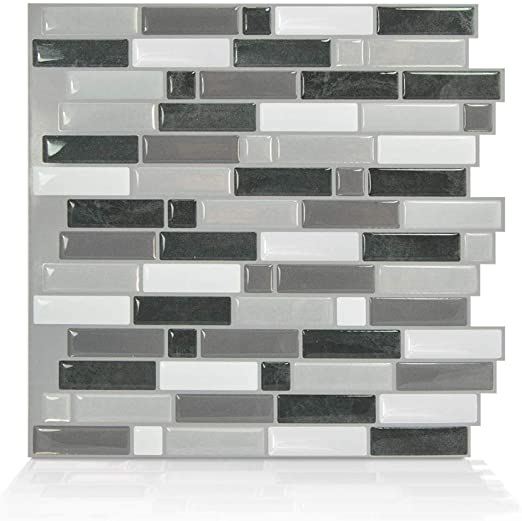 Smart Tiles Premium Modern Peel and Stick Backsplash Self-Adhesive .