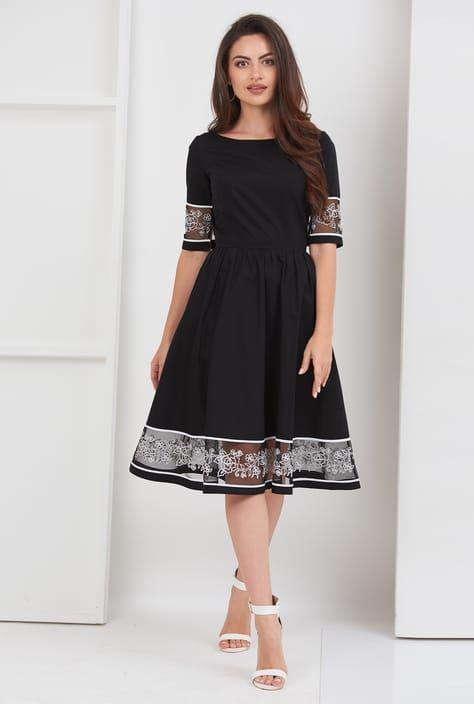 back zip dresses, below knee length dresses, Black And White .