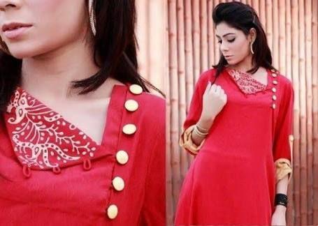 silk kurti neck designs - Google Search | Kurti neck designs, Gala .