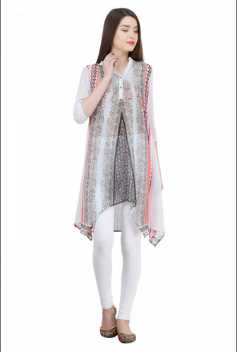 Crafted In Fine Luxury Fabric Asymmetrical Print Asymmetric Tunic .