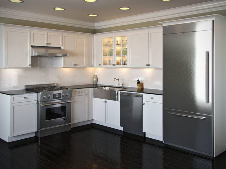 Small L Shaped Kitchen Designs with Island — Modern Desi