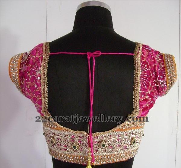 Cut Work Lace Blouse Designs - Saree Blouse Patter
