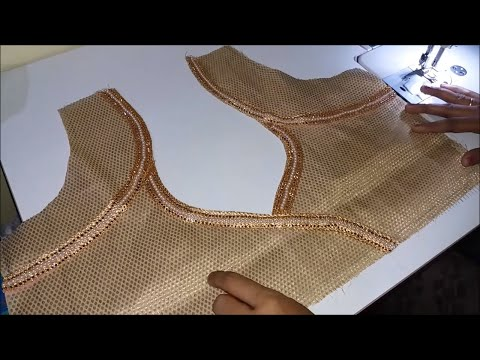 simple blouse design attached with lase/blouse design/by akanksha .