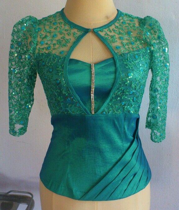 lace blouse | Stylish blouse design, Traditional blouse designs .