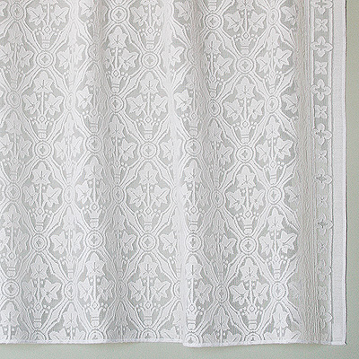 Victorian Cotton Lace Curtains | Brownstone Lace Panel | Bradbury .