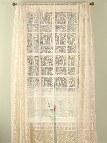 Nature & Lace Rod Pocket Curtains - Tree of Life Collecti