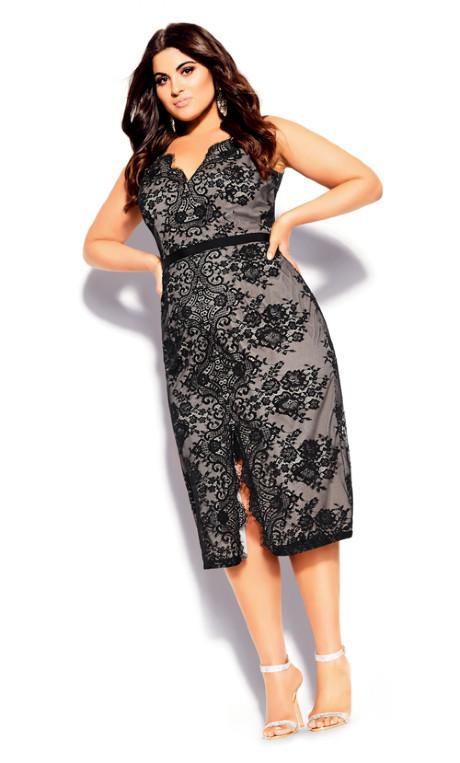Shop Women's Plus Size Plus Size Romantic Lace Dress - bla