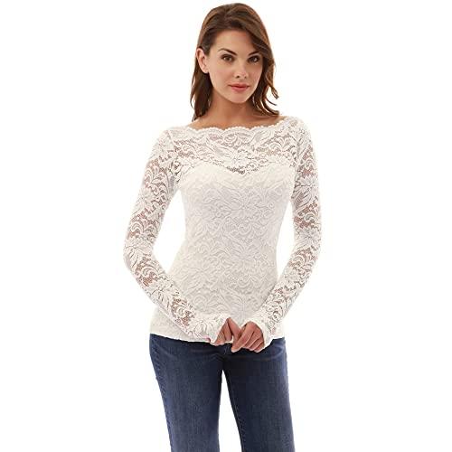 Long Sleeve Lace Tops: Amazon.c