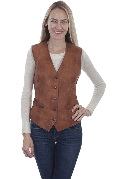 Ladies leather vest [L1012] : OldTradingPost.com Western Store is .