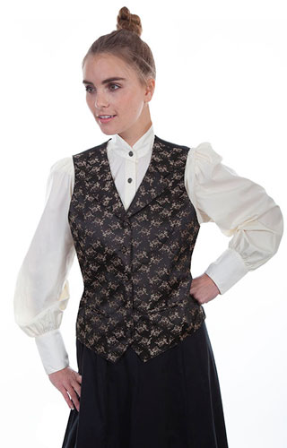 Scully Floral Print Vest - Brown - Ladies Vests And Jackets | Spur .
