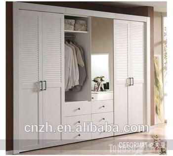 2017 Latest Modern Bedroom Wooden Wardrobe Mirror Door Designs .