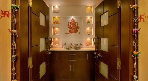Pooja Room Designing at Rs 850/square feet | bedroom design .