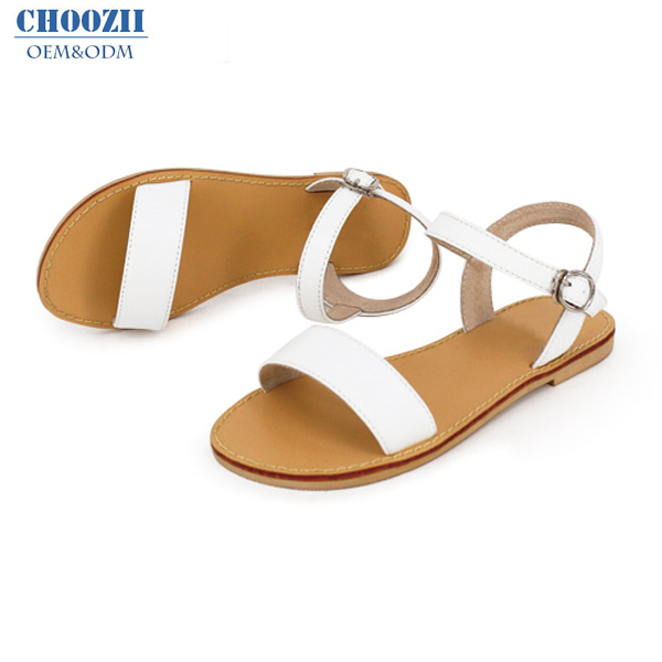 Wholesale Summer Latest Design White Leather Women Sandals Classic .