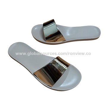 China Latest Woman Sandals With PVC Sole, Comfortable to Wear .