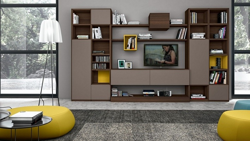 10 Latest Showcase Designs For Drawing Room With Pictur