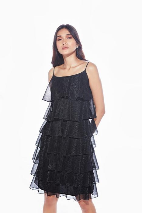 Black shimmer layered dress – RitikaBharwani.c